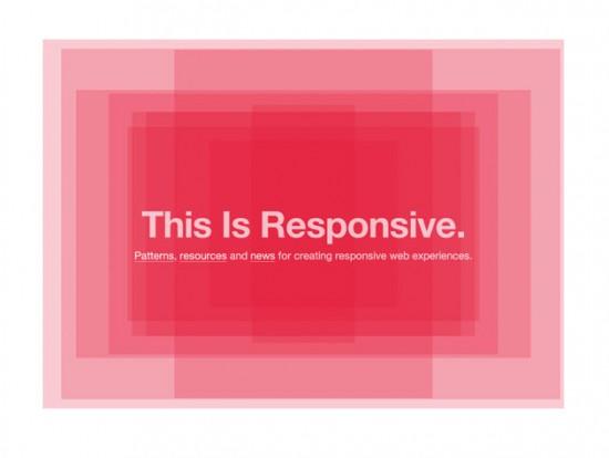 """Website von """"This is responsive"""""""