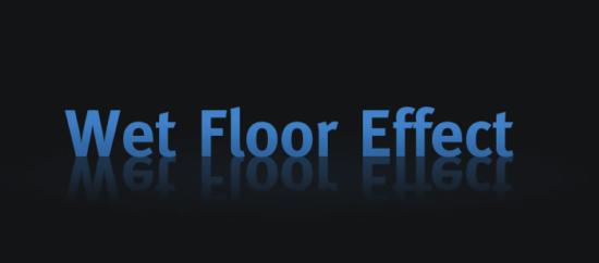 Klassischer Wet Floor Effect im Webdesign
