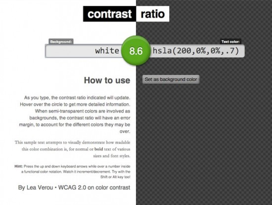 Screenshot von Contrast Ratio