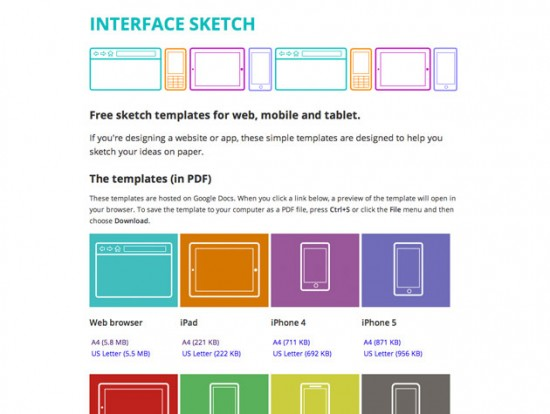 Screenshot von Interface Sketches