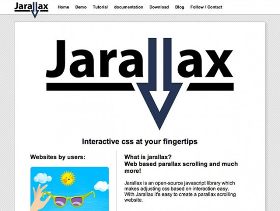 Screenshot von Jarallax
