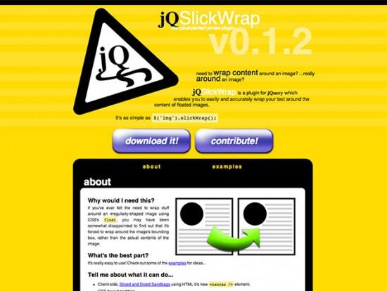 Screenshot von jQSlickWrap
