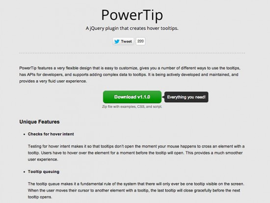 Screenshot von Power Tip