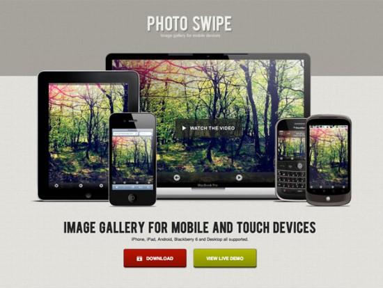 Screenshot von Photo Swipe