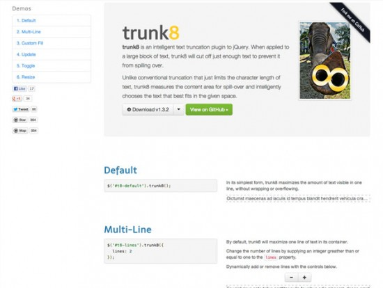 Screenshot von trunk8