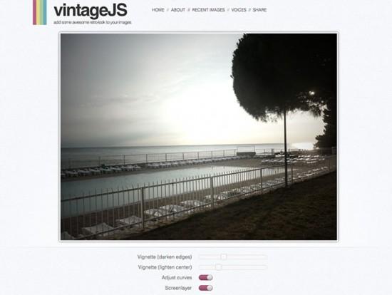 Screenshot von vintageJS mit Demo-Bild