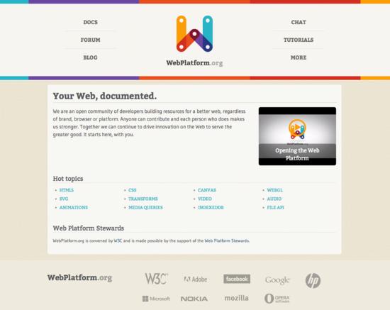 Startseite von webplattform.org