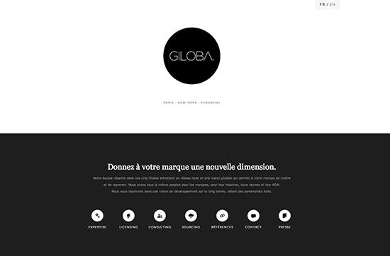 Beispiel für White Space im Webdesign