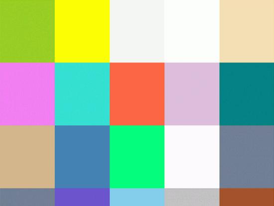 Screenshot der Farbauswahl von 147 Colors