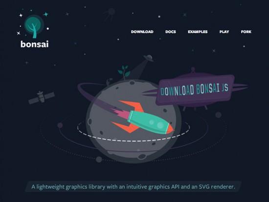 Screenshot von BonsaiJS