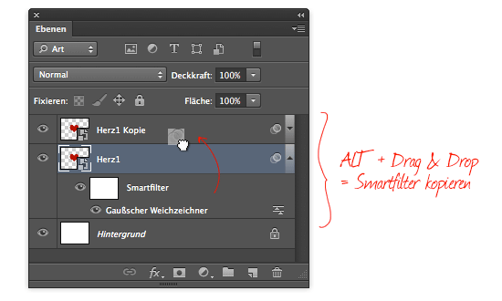Photoshop CS6: Smartfilter kopieren