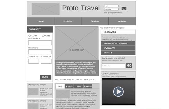 Mit Adobe Proto ersteller Wireframe