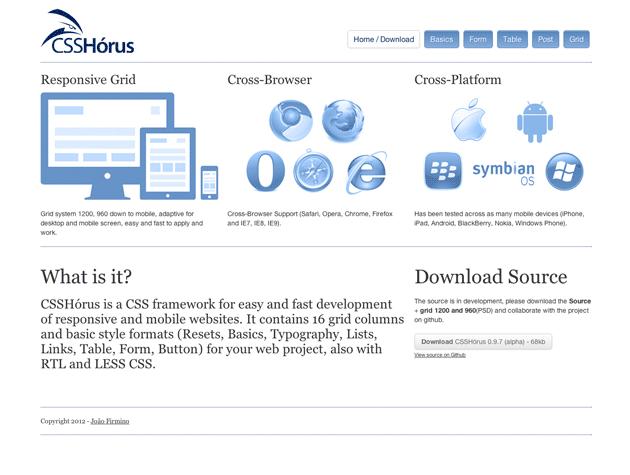 Screenshot von CSS Horus