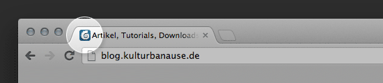 Favicon dieser Website in Google Chrome