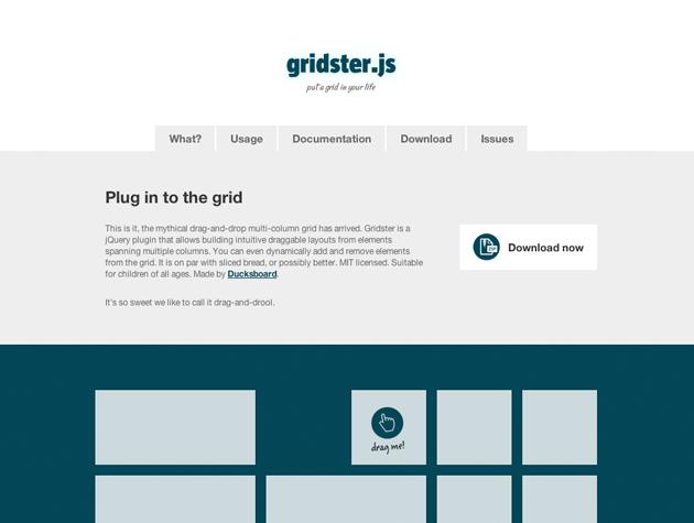 Screenshot von Gridster.js