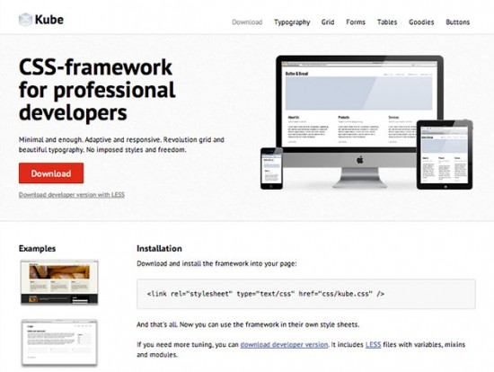 Screenshot des Kube-Frameworks