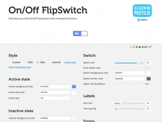 Screenshot von On/Off FlipSwitch