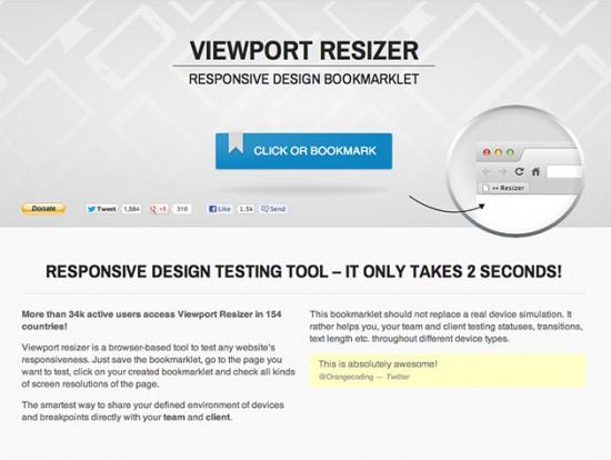 Screenshot von Viewport Resizer