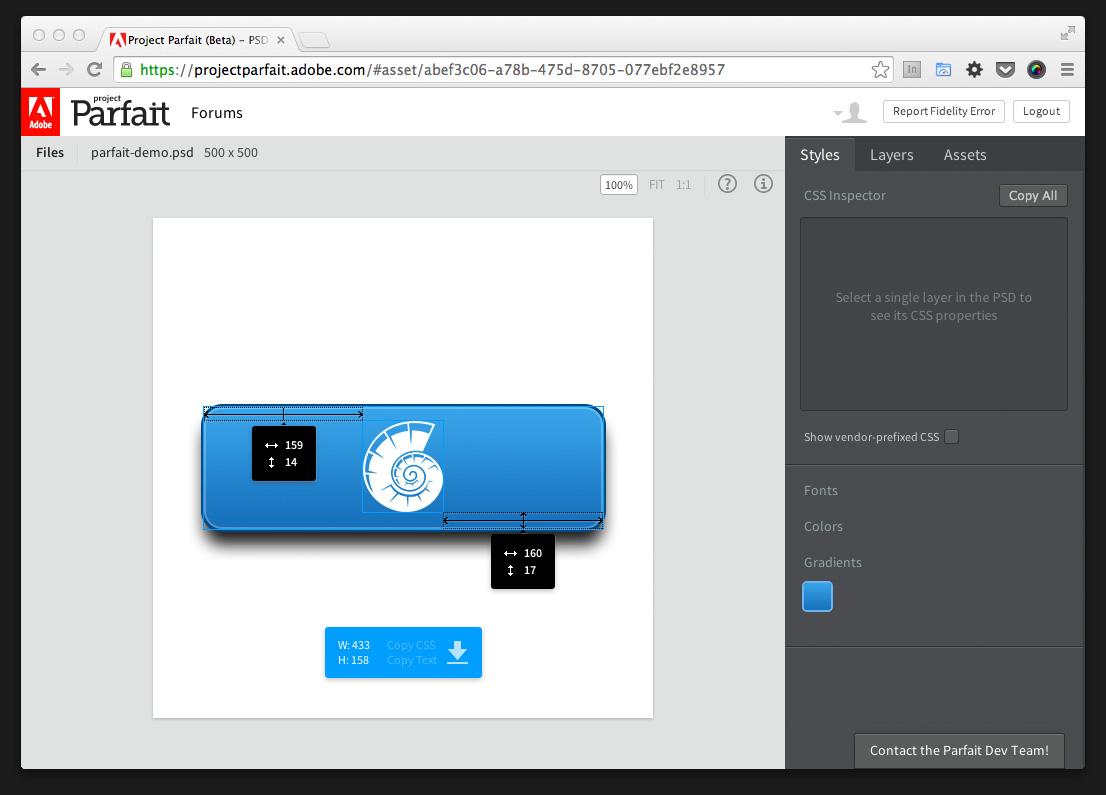 Adobe Project Parfait – Abmessungen zwischen Elementen vornehmen