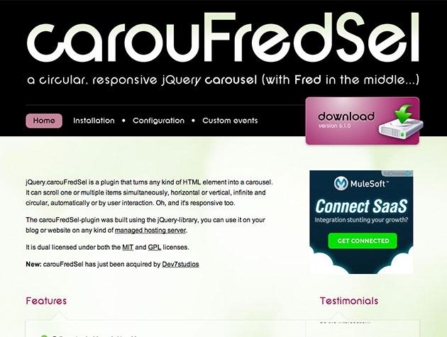 Screenshot von carouFredSel