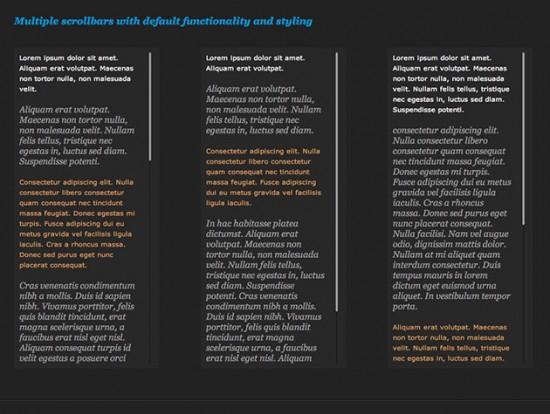 Screenshot der Demo-Seite