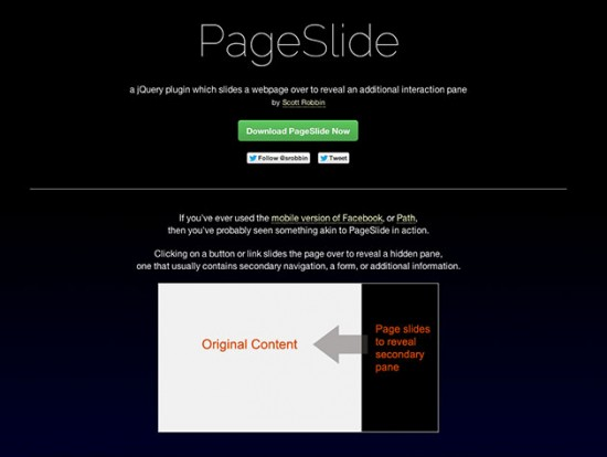 Screenshot der PageSlide-Website