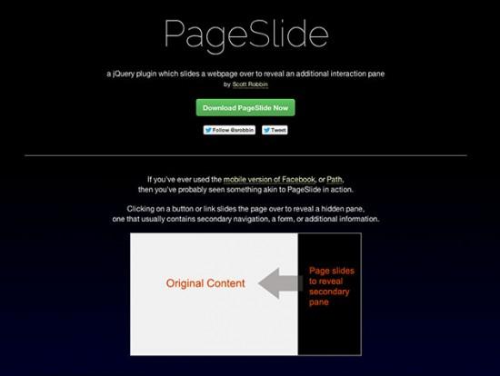 Screenshot der PageSlide-Website