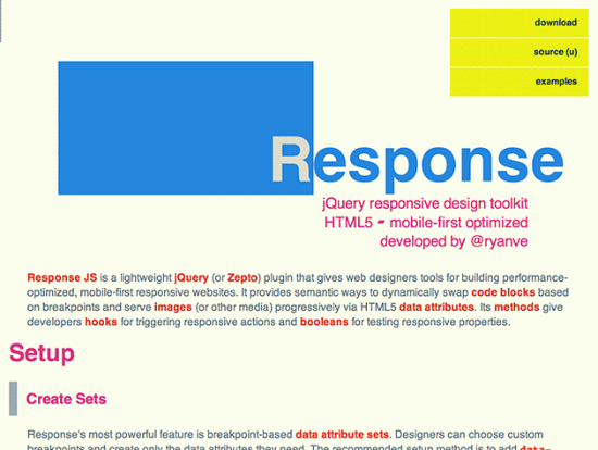 Screenshot von Respond JS