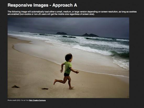 Demo-Seite von Responsive Images