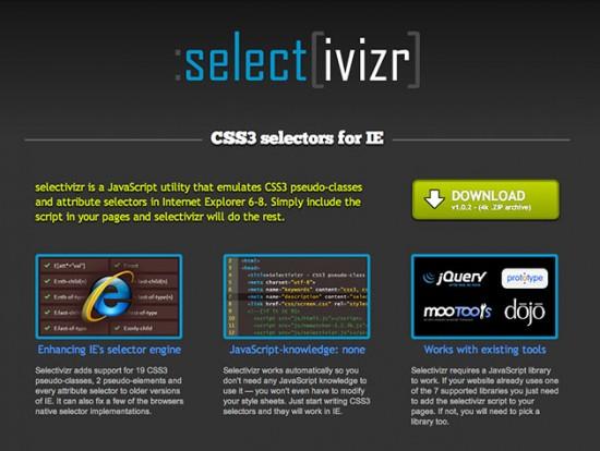 Website von selectivizr