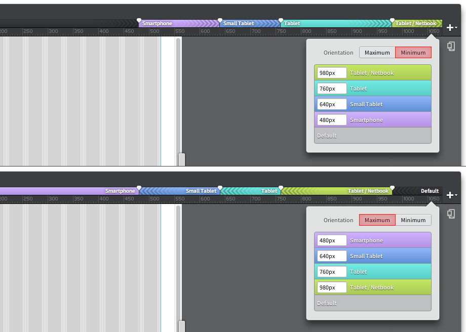 Media Queries in Edge Reflow: Klassisch und Mobile First