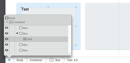 Die Textrahmen werden innerhalb der Boxen erstellt, damit sie sich am Padding orientieren