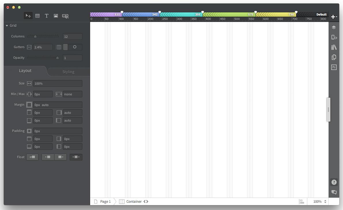 Benutzeroberfläche von Adobe Edge Reflow