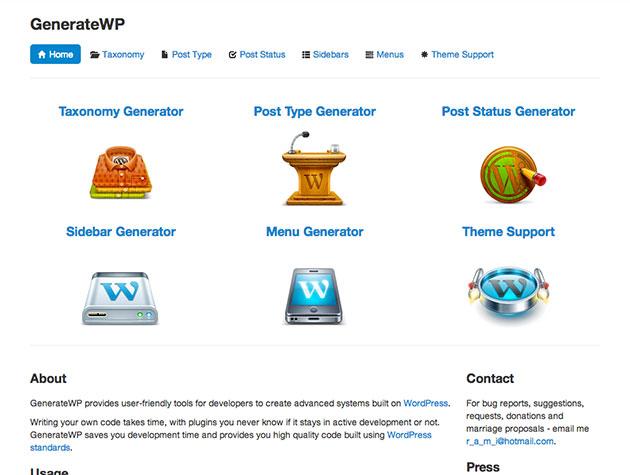 Screenshot von GenerateWP