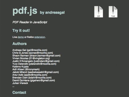 PDFs mit JavaScript darstellen - pdf.js