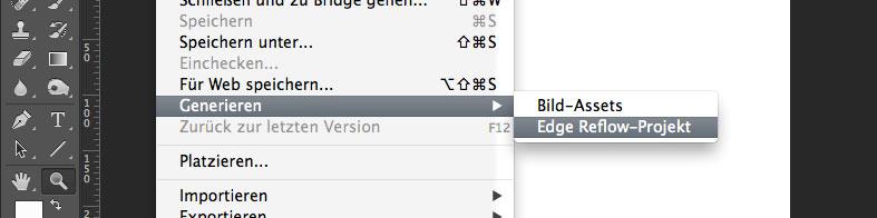 Photoshop CC-Layouts als Reflow-Projekt exportieren