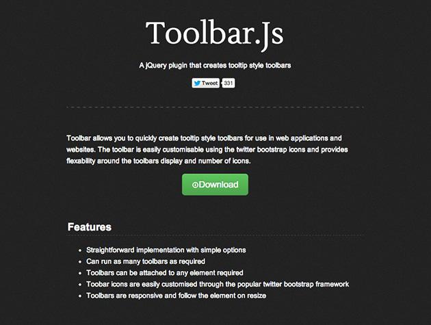 Screenshot von toolbar.js
