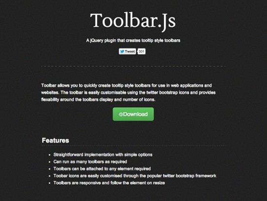 Screenshot von toolbar.js