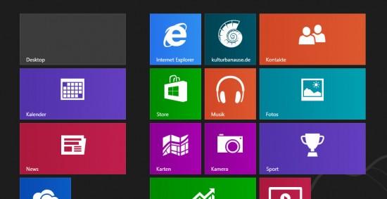 Tile Icon im Startmenü von Windows 8