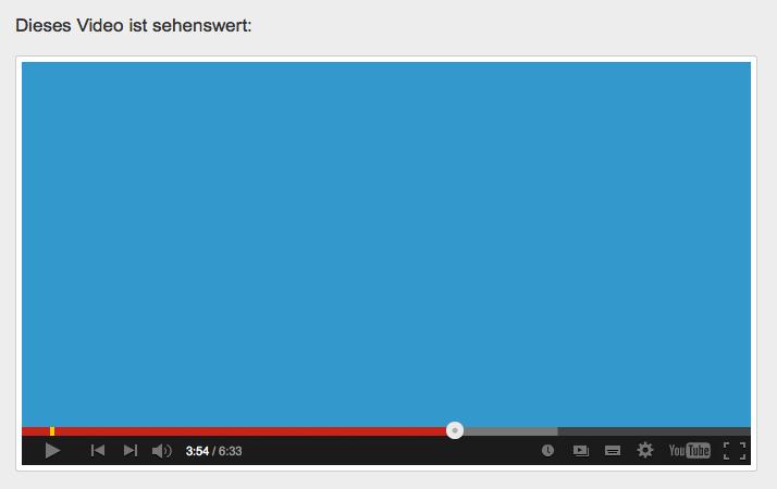 Screenshot des Beitrags, wenn ein YouTube-Link gepostet wurde