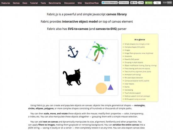 JavaScript-Bibliothek zur Erstellung von Grafiken mit HTML5-Canvas und SVG