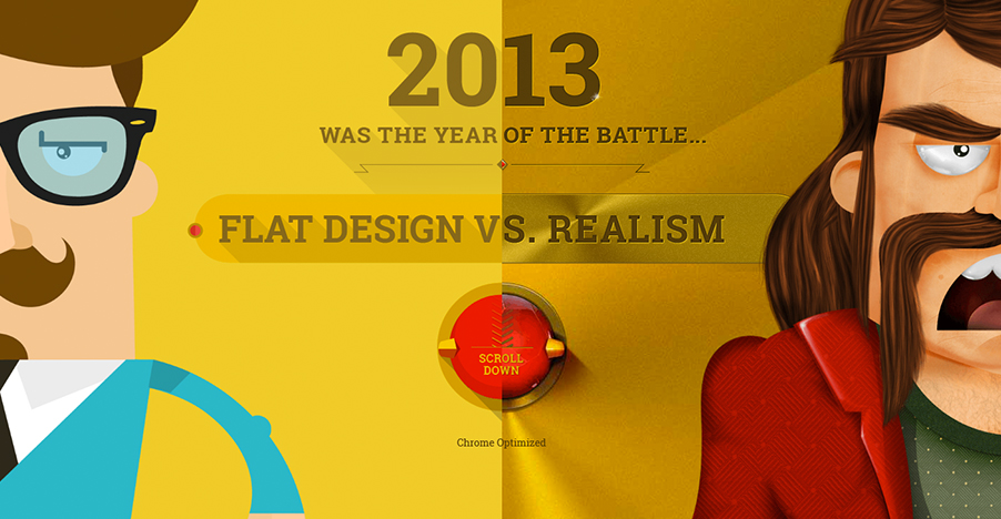 Flat vs. Realistic.