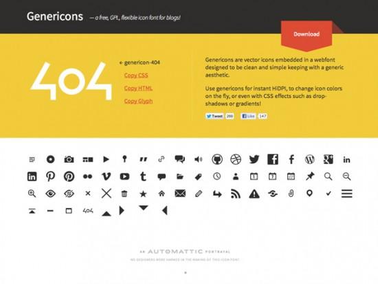 Webfont-Icon-Set von den Machern von WordPress