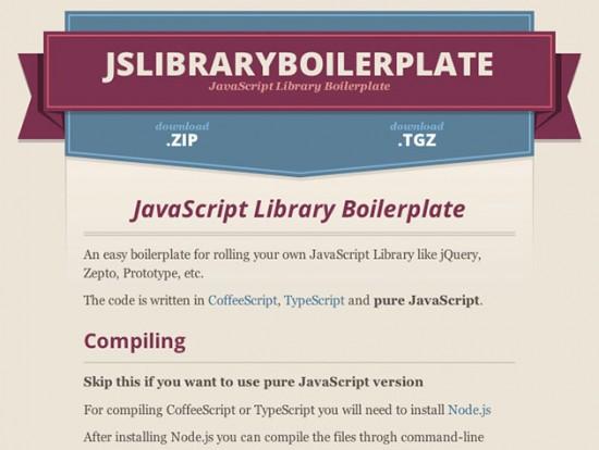 Eine Framework für JavaScript-Frameworks – jslibraryboilerplate