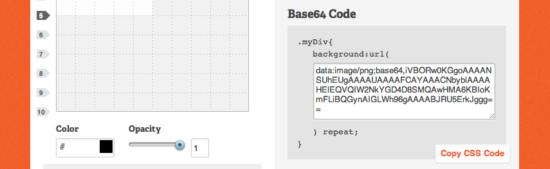 Base64-Code mit Patternify erzeugen