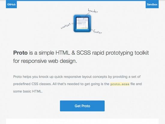 Rapid Prototyping mit SCSS dank Proto