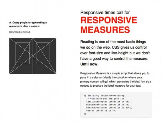 Responsive Typography mit dem jQuery-Plugin Responsive Measures