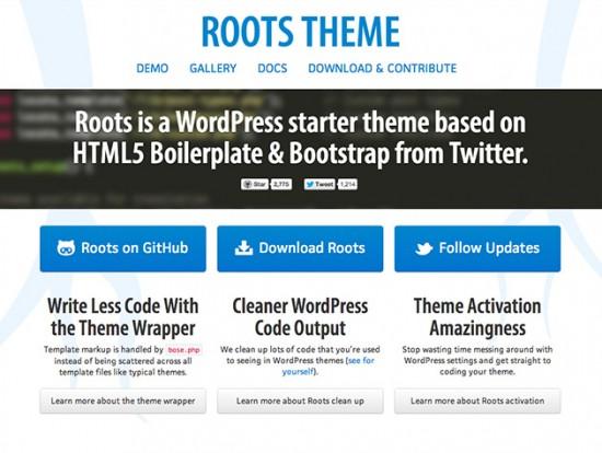 Blank-Theme für WordPress auf Basis der HTML5 Boilerplate und Bootstrap