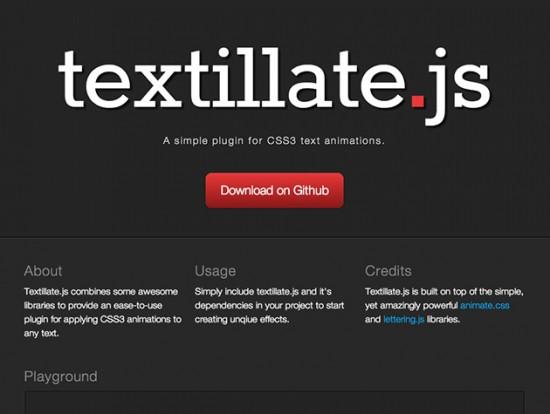 CSS3-Text-Animationen mit dem Script textillate.js