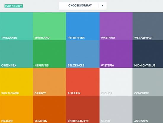 Farben für Websites im Flat Design